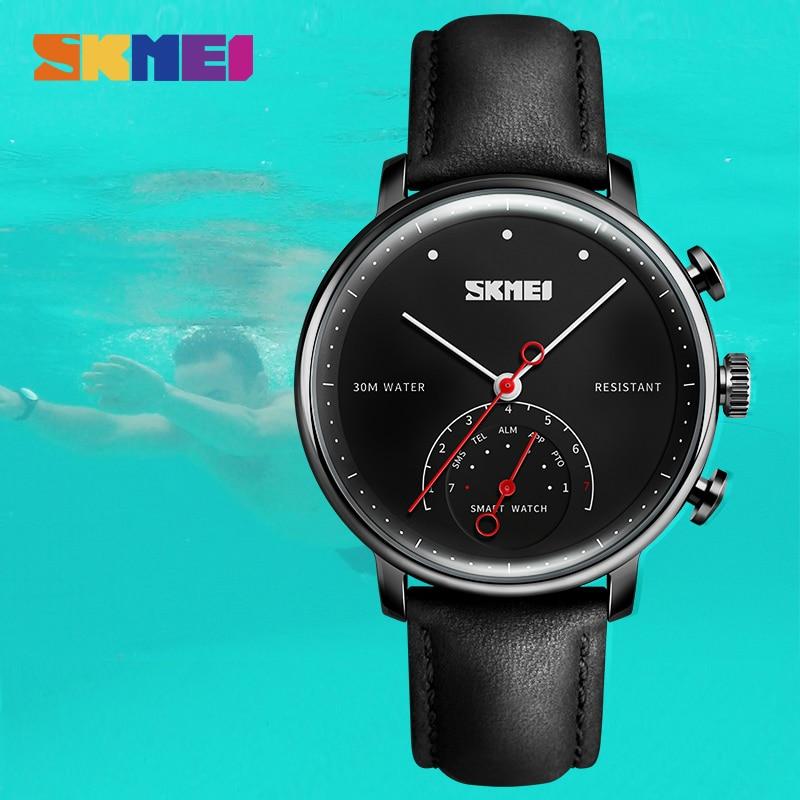 SKMEI модные и повседневные умные мужские и женские часы Blueteeth фотография пара Quatz наручные часы H8 - 4