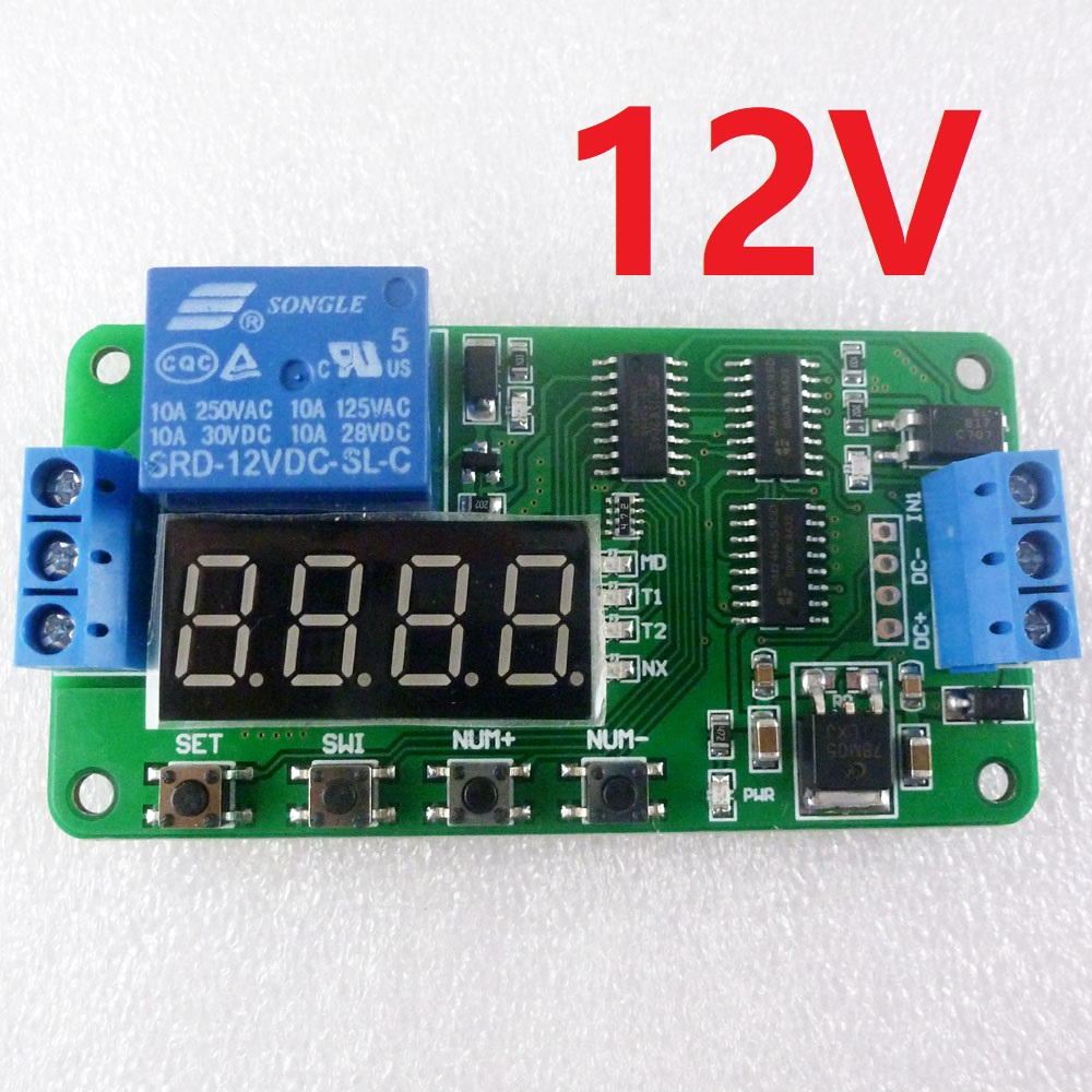 us $4 74 5% off dc 12v dc multifunction self lock relay plc cycle timer module delay time switch in integrated circuits from electronic components &  cyclic relay wiring diagram #12