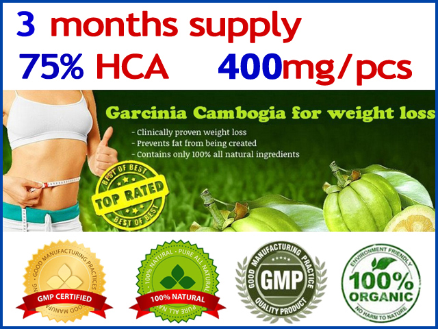 300 Caps for 3 months supply 75 HCA Garcinia cambogia Slimming Garcinia cambogia weight loss diet