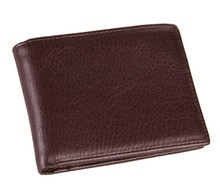 8054C  fashion style vintage wallet purse 100% genuine leather Coffee color for man