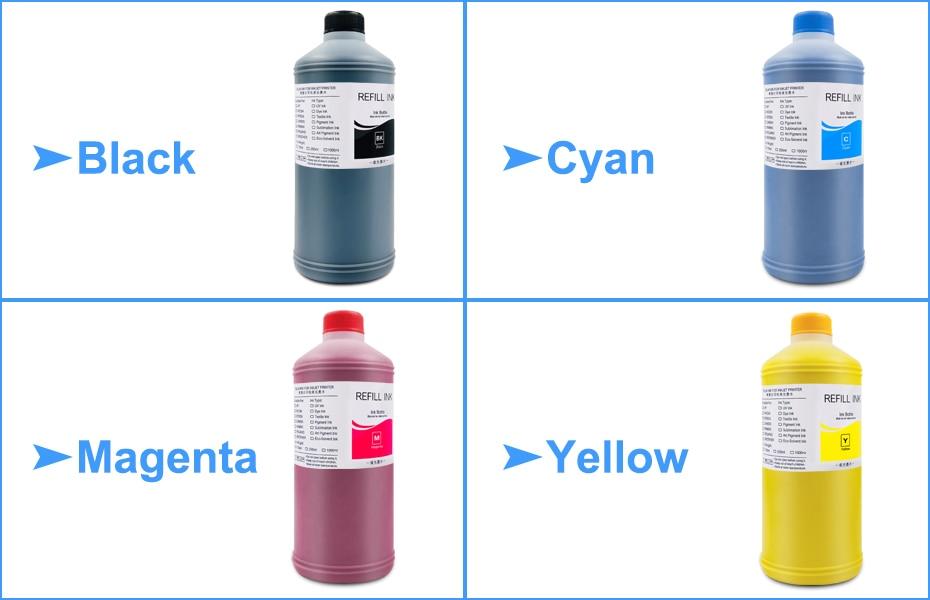 9x1000 ml universal pigmento tinta reenchimento kit