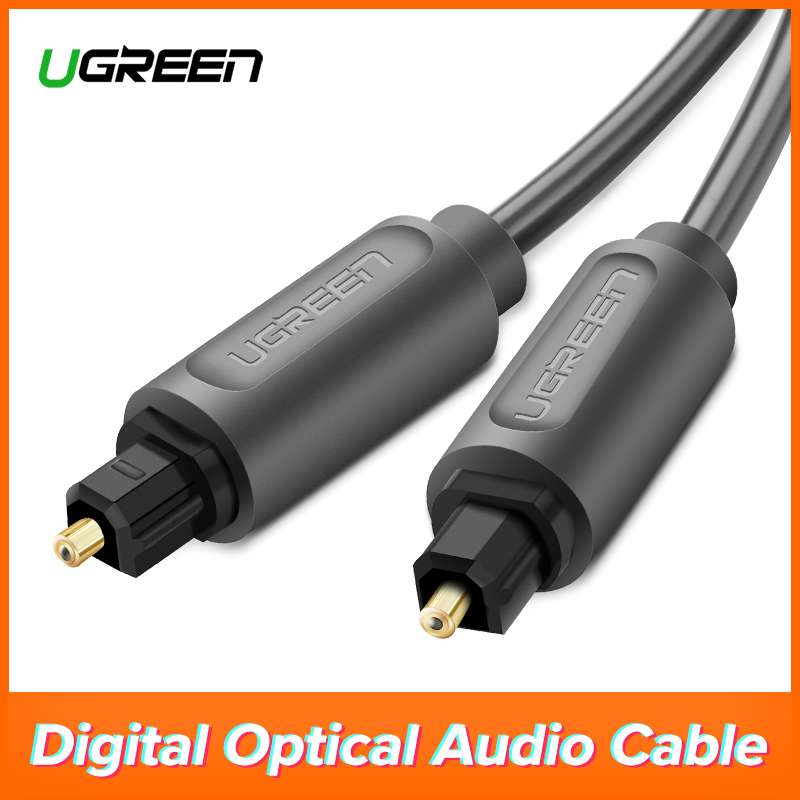 Ugreen Digital Optical Audio Cable Toslink 1m 3m SPDIF Coaxial Cable for Amplifiers Blu-ray Player Xbox 360 Soundbar Fiber Cable digital audio optical fiber toslink cable black 10 meters
