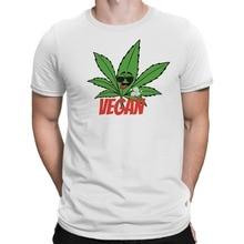 """""""Vegan"""" + weed leaf men's shirt"""