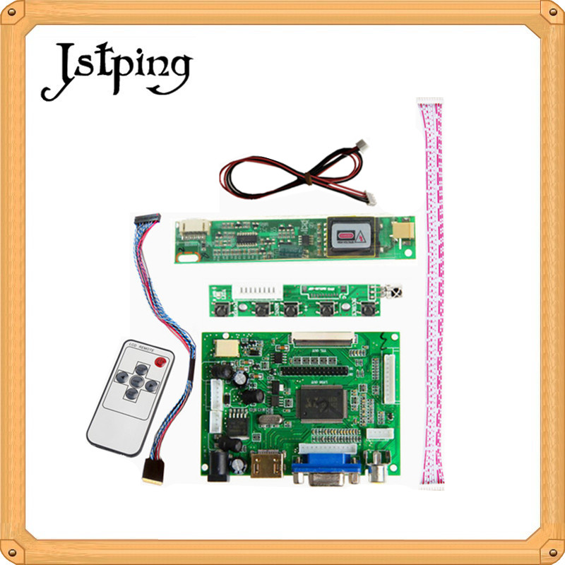 Jstping 23 inch LTM230HT09 LCD screen Controller monitor HDMI VGA 2AV Driver board Audio 50pin Kit DIY mini display panel