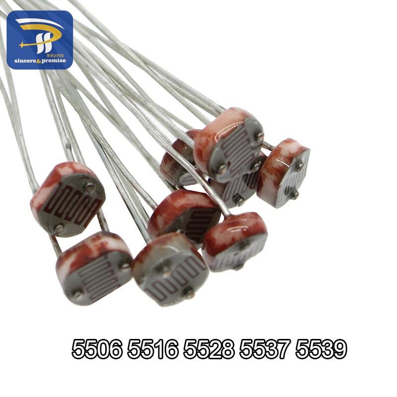 10pcs Photorésistance 12mm GL12528 10K-20K Ohm Photoresistor GL-12528