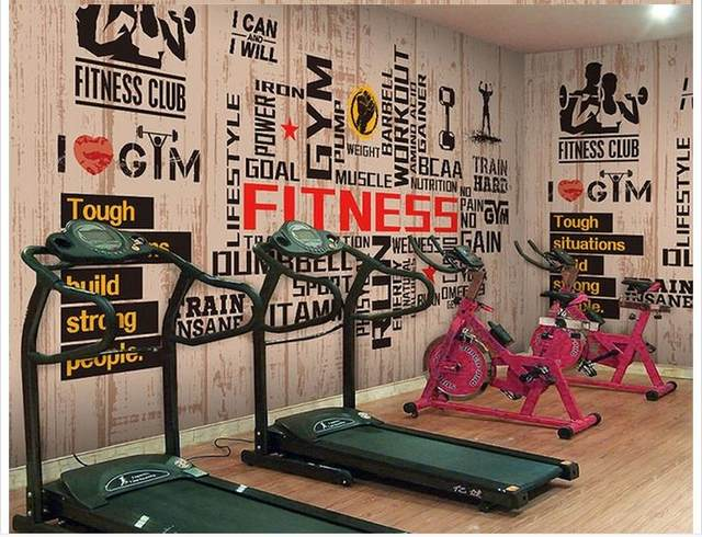 Online Shop 3D wall murals wallpaper custom picture mural Gym wall