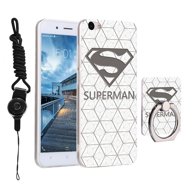 For BBK Vivo Y67 Case 5.5 inch Painted Silicone Soft Cartoon Cover for Vivo Y67 V5 Y67L Phone Cases With Lanyard And Ring