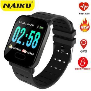 Image 1 - Usine A6 montre intelligente moniteur de fréquence cardiaque Sport Fitness Tracker rappel dappel de pression artérielle hommes montre pour iOS Android cadeau