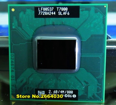 Free Shipping intel CPU laptop Core 2 Duo T7800 CPU 4M Socket 479 Cache/2.6GHz/800/Dual-Core Laptop processor