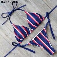 RXRXCOCO New Sexy Bikini 2017 Halter Bandage Swimsuit Women Push Up Bikini Brazilian Swimwear Summer BeachWear