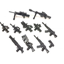 11PCS Gun series Swat police military weapon accessories playmobil city Mini figures parts original Blocks Model toy & hobbies police station swat hotel de police doll military series 3d model building blocks compatible with lego city boy toy hobbies gift