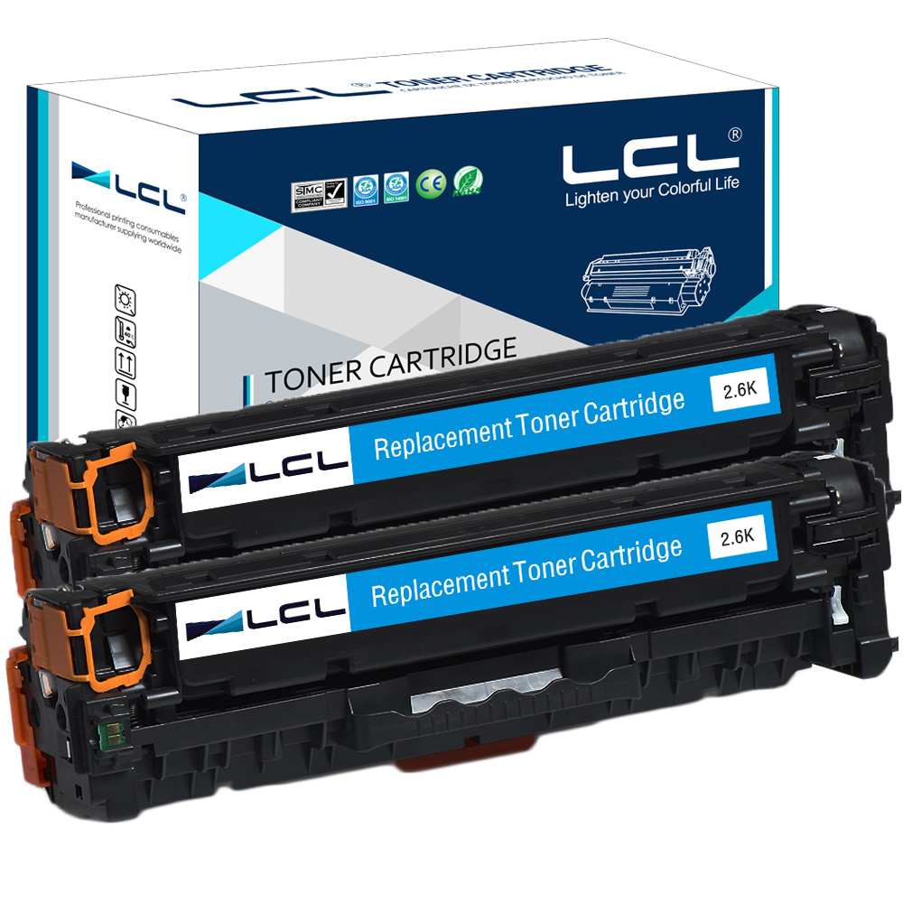 все цены на  LCL 305A CE411A CE411 411A CE 411 A (2-pack) Cyan Compatible Toner Cartridge for HP Laserjet Enterprise300 M351M375nwM451nw/M451  онлайн
