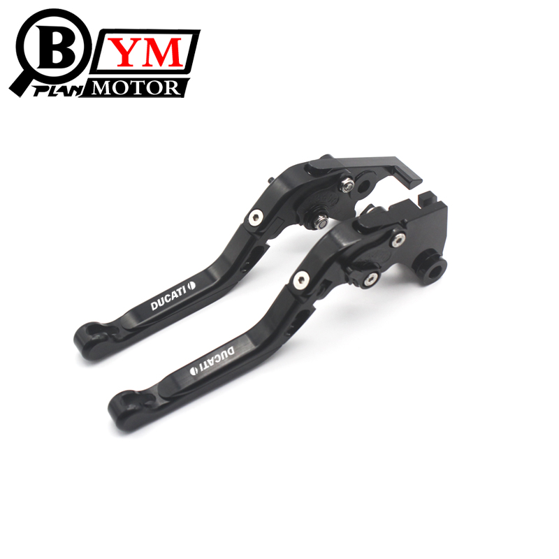 7 Colors Motorcycle Folding Extendable Brake Clutch Levers For Ducati Monster 400 620 696 796 S2R 800 620 MTS ST4S mtkracing motorcycle cnc adjustable folding extendable brake clutch levers for ducati monster 696 695 796 400 620 s2r st4s