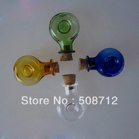 Free shipping!!!! VP10041 4 colors winebottle mini vial pendant /wish pendant/ floating bottle