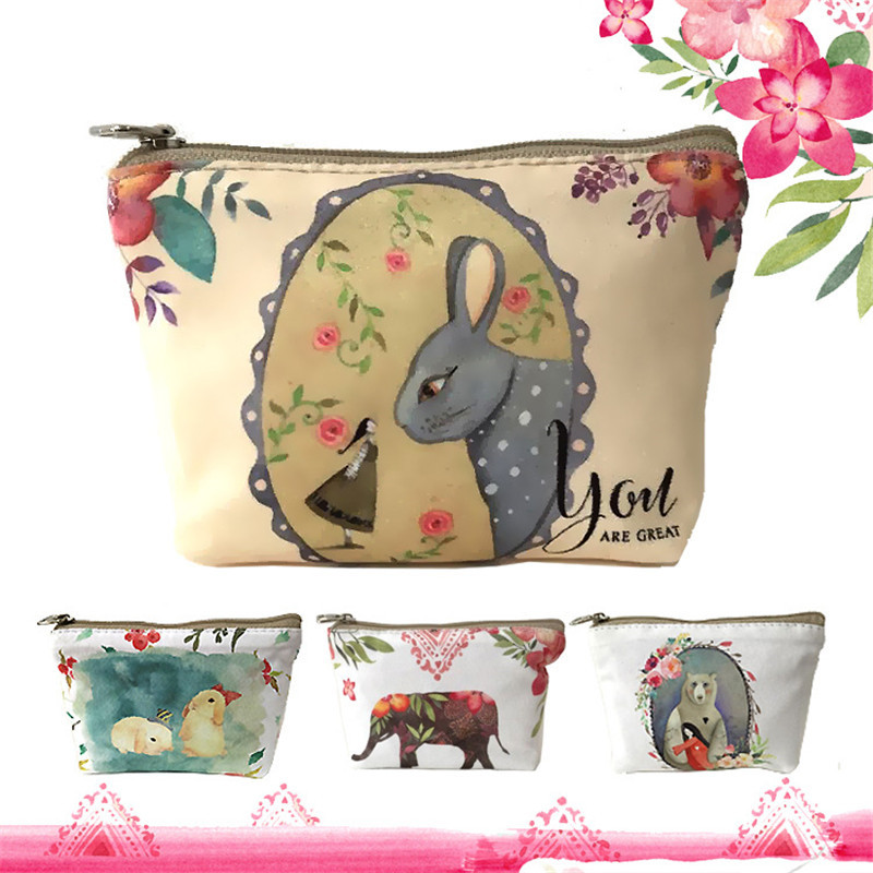 Brand cute canvas coin purse women rabbit zero wallet Teenagers girl vintage style key pouch sweet lady retro coins purses bag girl women stylish cute silicone coin purse wallet