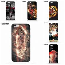 Exunton Soft Silicone TPU Transparent Luxury Jimmy Butler Bulls For Apple  iPhone 4 4S 5 5C e1df1a110924