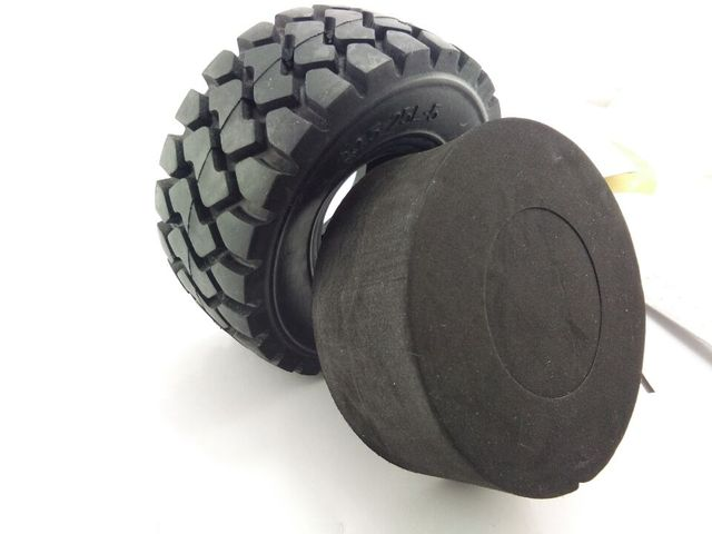 1pcs Tire 137mm for 1/14 Tractor Excavator Truck Tamiya