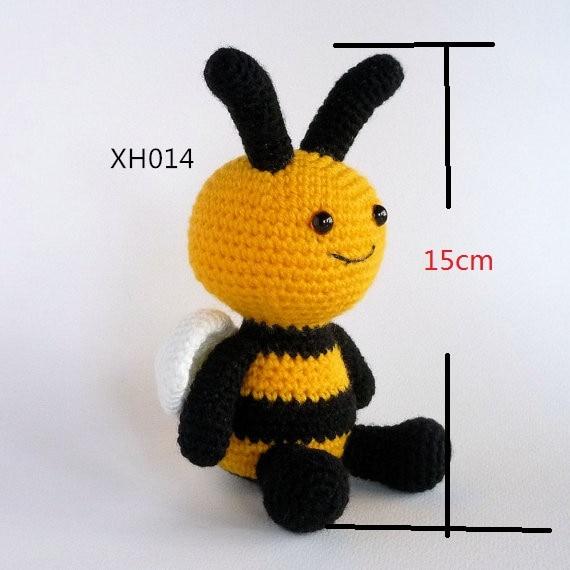 Amigurumi Bee Gehaakte Speelgoed Bee Pop Bumble Bee Haak Baby