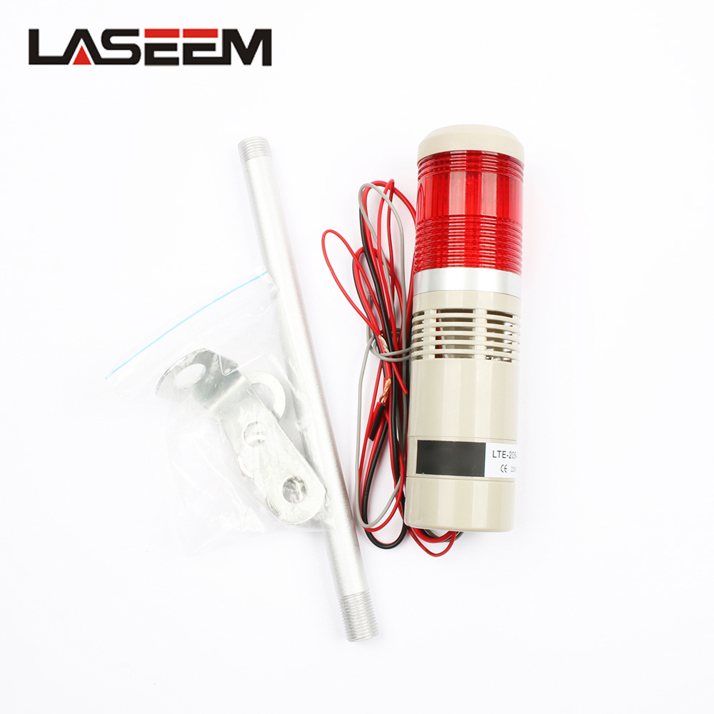 Signal Traffic Safety Stack Lamp Flash Industrial Tower Signal Warning Light LTA-205 Red Buzzer Sound 1 Layer Security Warning