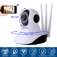 Wanscam Three Antenna Wireless Home CCTV Security 2MP HD 1080P Wifi P2P IP Camera Baby Monitor