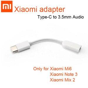 Image 1 - Origina Xiao mi Typ C 3,5 Jack Kopfhörer USB C zu 3,5mm AUX Adapter Huawei mate 20 P30 pro xiao mi mi 6 8 9 SE mi x 2 s Audio kabel