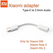 Original Xiao mi Type C Nam đến 3.5 mét Nữ Bộ Chuyển Đổi Âm Thanh mi 8 se Jack Loại C đến 3.5 headphone aux mi 6 mi 6 A2 Lưu Ý 3 mi X 2 s p20