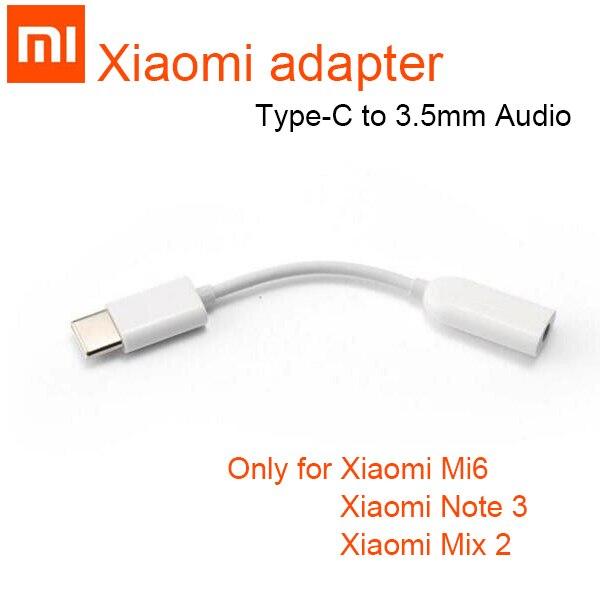 Original Xiao mi tipo C macho a 3,5mm hembra Adaptador de Audio mi 8 se Jack tipo C a 3,5 auriculares aux mi 6 mi 6 A2 nota 3 mi X 2 s p20
