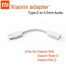 Оригинальный аудиоадаптер Xiaomi со штекером Type C на гнездо 3,5 мм, штекер mi 8 se, разъем Type C на 3,5, для наушников aux mi6 mi 6 A2 Note 3 MIX 2S p20