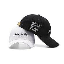AIR HOME Letters Embroidered Baseball Cap Star Fashion Caps Men Women Black White Hat цена