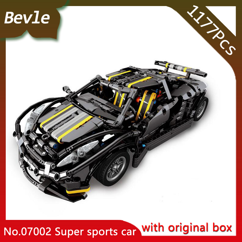 Bevle Store Lepin 07002 1177Pcs with original box Technic series Balisong small Supercar Building Blocks Bricks Children Toys bevle store lepin 22001 4695pcs with original box movie series pirate ship building blocks bricks for children toys 10210 gift