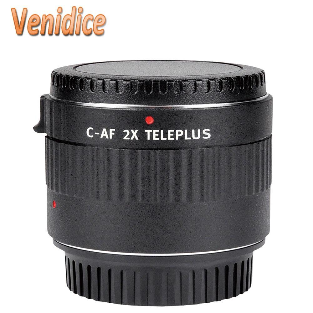 Mcoplus Viltrox C-AF 2X grossissement automatique lentille de montage d'extension de téléconvertisseur pour objectif Canon EOS EF appareil photo reflex numérique