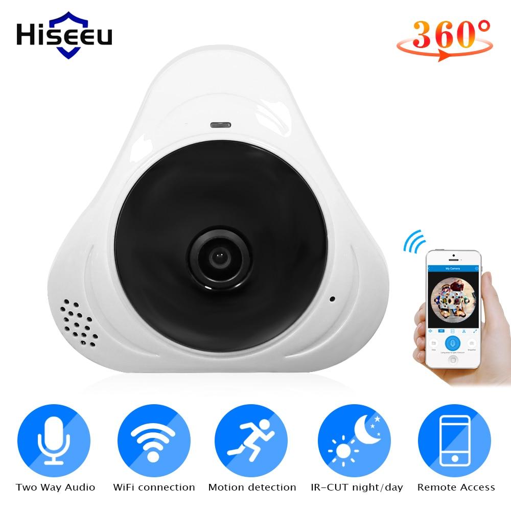 Hiseeu 960P 3MP 360 degree Panoramic Wireless FishEye IP camera Mini Baby Pet Monitor Network Home Security CCTV Camera
