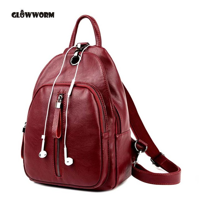 Aliexpress.com : Buy Casual Backpack Women Genuine Leather ...