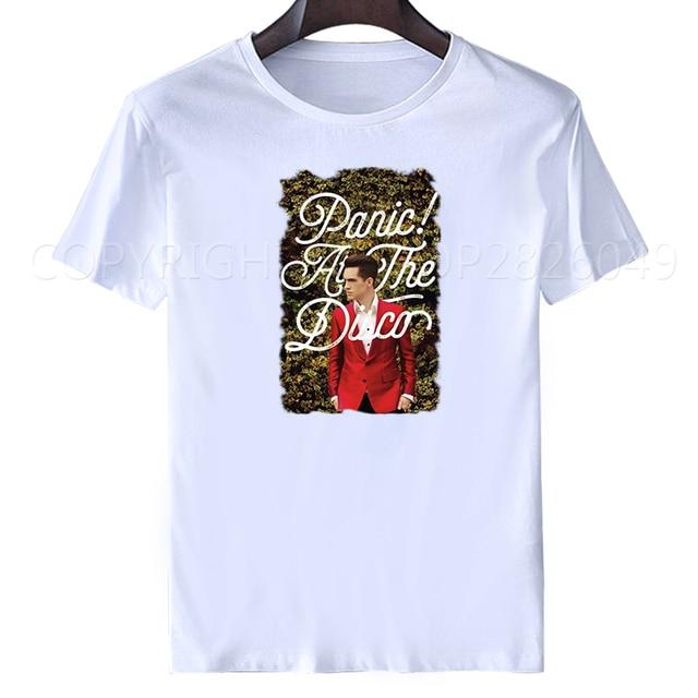 ac1bcc86 T Shirt men'S Short Short O-Neck Panic At The Disco Panic At The Disco T  Shirt Joke T Shirts woman blouse 2019 spring summer
