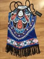 tassel women chiffion dress spring summer ruffle beach casual dress Vintage loose mini dress vestidos