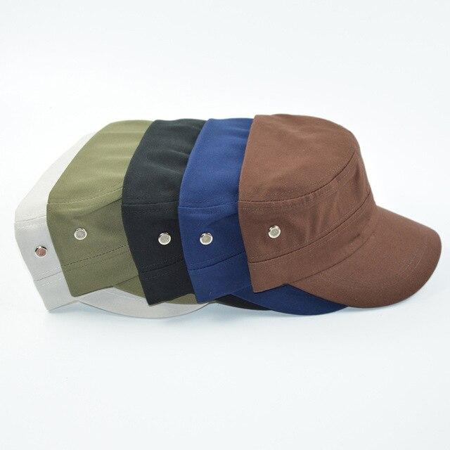 ac71bd73200 Men s Korean flat cap cotton fashion baseball ladies breathable casual  military cap outdoor travel cap