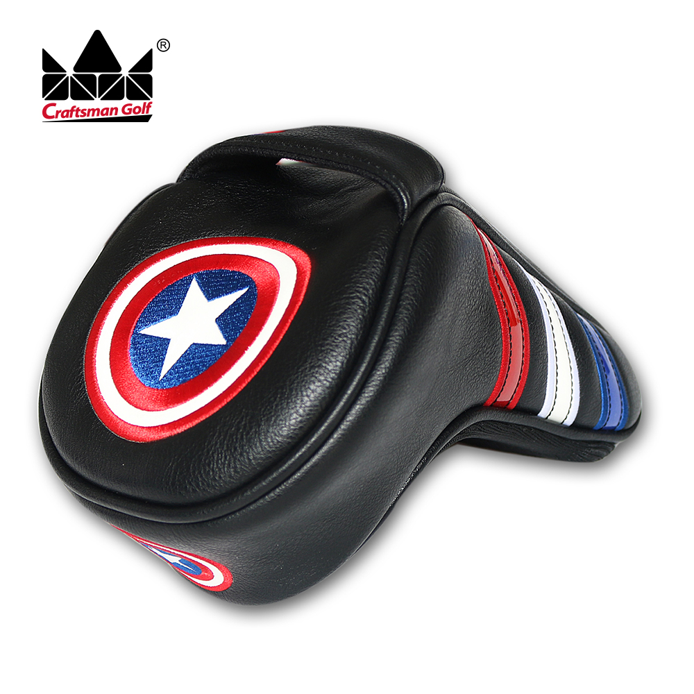 America Style Golf Driver Cover Headcover Synthetic PU Leather Quality Stiching 460cc Black Craftsman Golf женское платье cami stiching cami389622