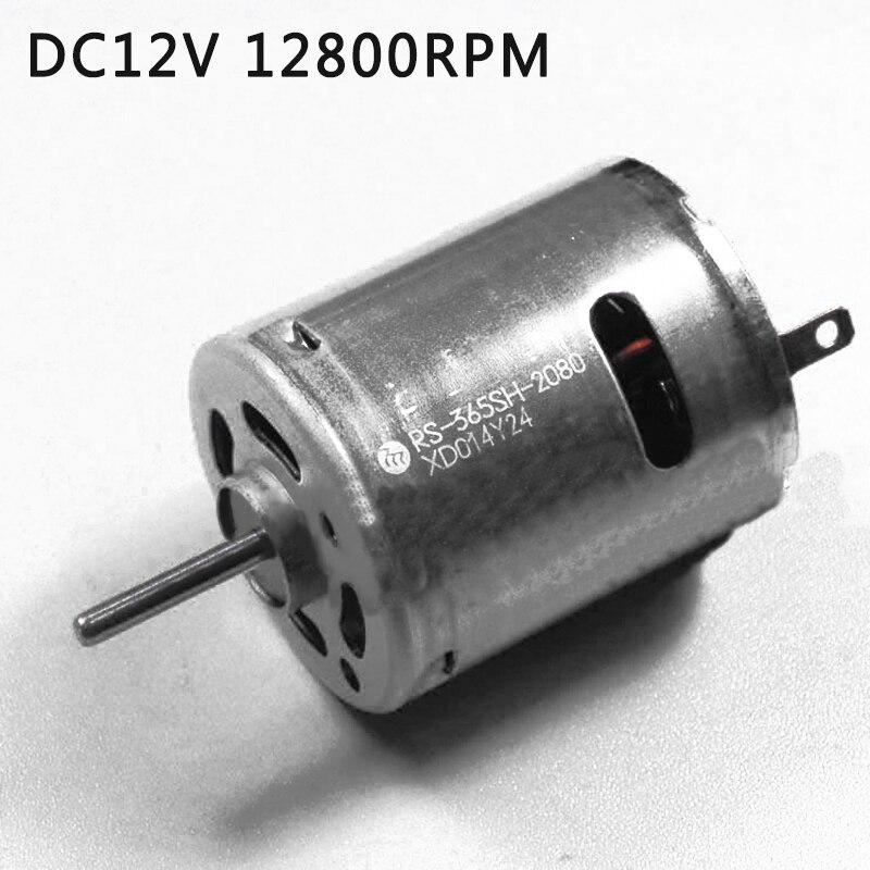 1 PC DC12V 12800RPM Micro Carbon Brush Motor DIYY For MABUCHI RS-365SH-2080 Mini Torque Gear Motor