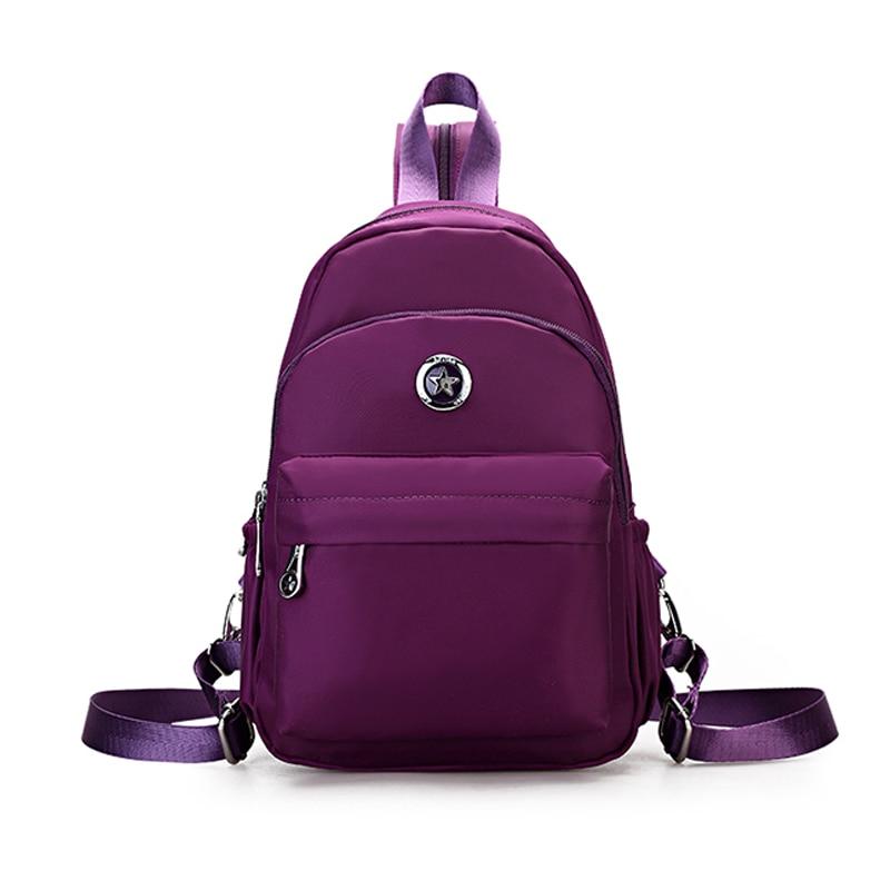 2017 New little women Small Day bag fashion waterproof nylon Backpack back schoolbag school wind MINI backpack teenager new sweet little fresh little lady backpack fashion kids mini school bag ly1813