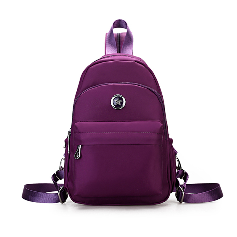 2017 New little women Small Day bag fashion waterproof nylon Backpack back schoolbag school wind MINI backpack teenager