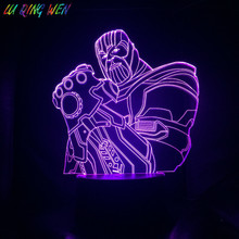 Marvel Supervillain Thanos 3d Night Lamp Home Decorative Light Boy Gift Children Baby Bedroom Led Table