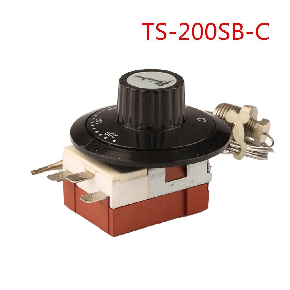 Ts-200sb-c Korea Regenboog Thermostaat Met Schroef 50-200 Celsius Drie Voeten Temperen Switch 3 Pin Temperatuurregelaar Nc Matige Prijs