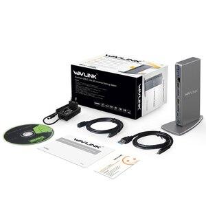 Image 5 - Универсальная док станция Wavlink, USB 3,0, 5K, Dual 4K, HDMI, HD, гигабитный Ethernet, Тип C, USB 3,0, для MAC