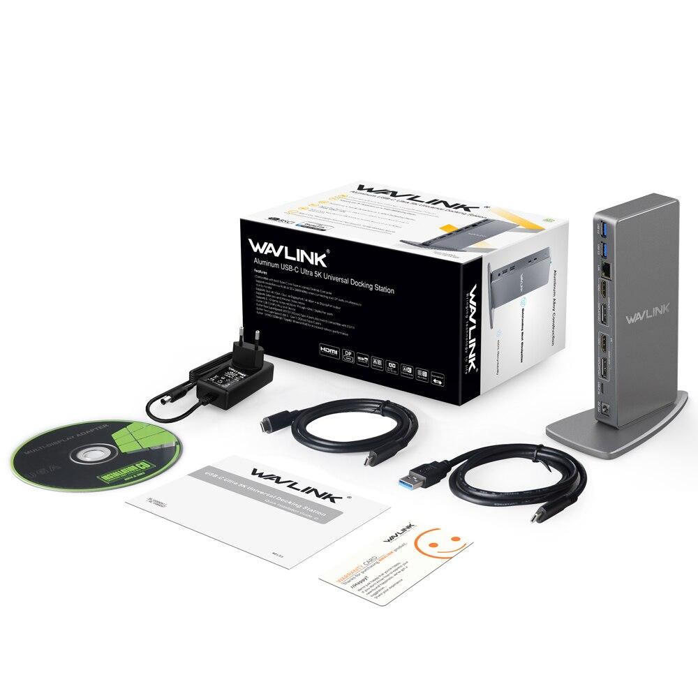 Image 5 - 】 Wavlink ユニバーサルドッキングステーション USB3.0 ラップトップ 5 18K デュアル 4 4k ビデオ Hdmi HD ギガビットイーサネットタイプ C USB 3.0 Macノートパソコンのドッキングステーション   -
