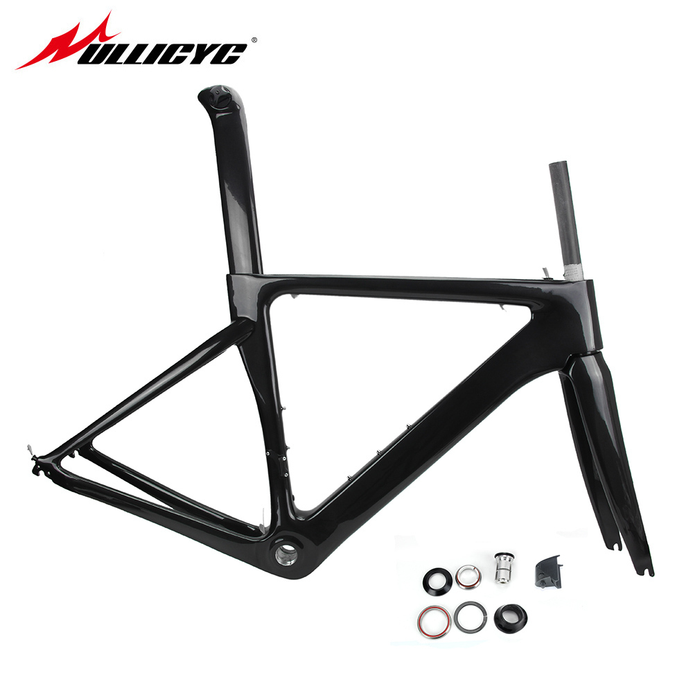 Ullicyc T800 Carbon Road Bike Bicycle Frame Super Light Durable 700C 510/540/560mm Di2 Mechanical BSA Matte Frame+Fork+Headset щетки стеклоочистителя alca super flat maxx 560mm 250220