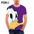 FORUDESIGNS Funny Cartoon Men Clothing 3D Batman Superman Mickey Donald Duck Men T shirts Harajuku Summer Tops Tees Brand tshirt