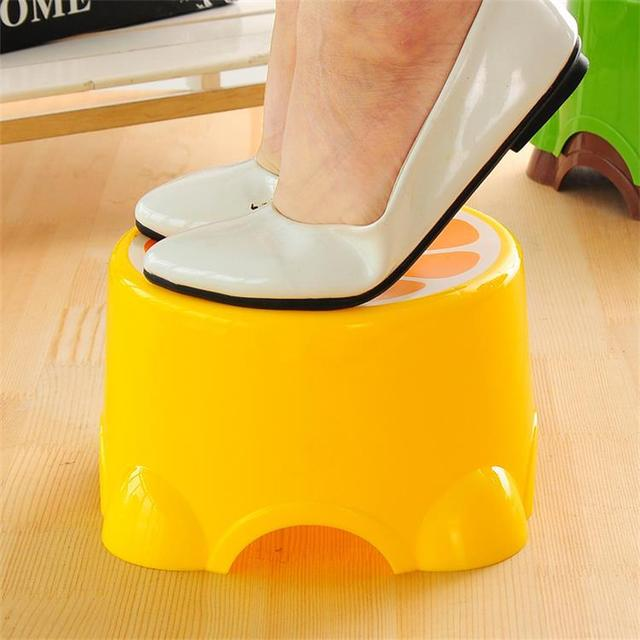 Fruit Trumpet Children's Stool Cute Plastic Stool Round Stool Baby Cartoon Stool Thickened Bench  Chair for Children 3