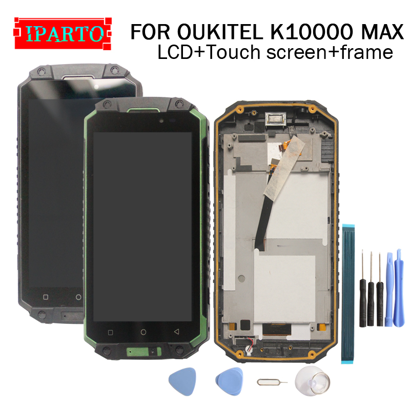 OUKITEL K10000 MAX LCD Display+Touch Screen Digitizer +Frame Assembly 100% Original New LCD+Touch Digitizer for K10000 MAX-in Mobile Phone LCD Screens from Cellphones & Telecommunications