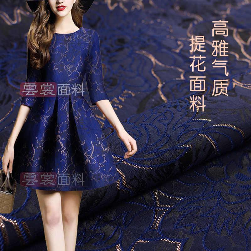 145 cm szerokości wiosna i jesień garnitur nawet sukienka spódnica wiatrówka złoty jedwab żakardowe tkaniny mody tkaniny wysokiej klasy brokat