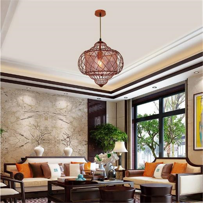 New Chinese Style Modern Antique Creative Birdcage Chandelier Restaurant Study Pendents Free Shipping new chinese style ceramic chandelier restaurant study bedroom art warm solid wood chandelier free shipping